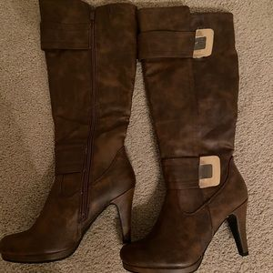 New Forever Tall Boots Brown 7 1/2